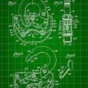 Padlock Patent 1935 - Green Poster