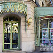 Paris Laduree Macaron French Bakery Patisserie Tea Shop - Champs Elysees - The Laduree Patisserie Poster