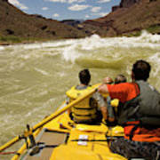 Passenger View Of People Rafting Poster