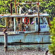 Pelican And Fishing Boat Poster