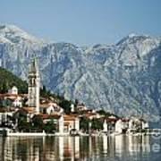 Perast In Kotor Bay Montenegro Poster
