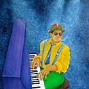Piano Man Poster by Pamela Allegretto