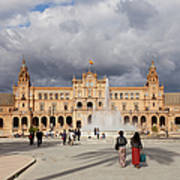 Plaza De Espana Pavilion In Seville Poster