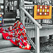 Porch Of Many Colors Poster