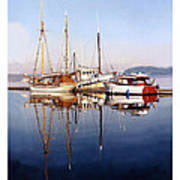 Port Orchard Marina Reflections Poster