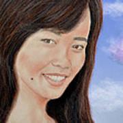 Portrait Of A Filipina Beauty Poster by Jim Fitzpatrick