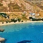 Psili Ammos Beach In Serifos Island Poster