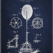 Punching Apparatus Patent Drawing From1895 Poster by Aged Pixel