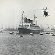 Queen Mary Leaves Southampton On Last Voyage Poster