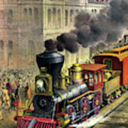 Railroad, 1874 Poster