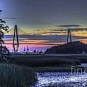 Charleston Bridge Low Tide Poster