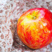 Red And Yellow Apple Poster
