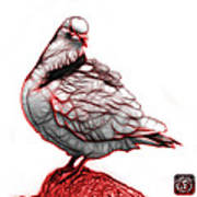 Red Pigeon Pop Art 5516 - Fs - Bb -  Modern Animal Artist James  Poster