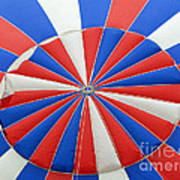 Red White And Balloon  Poster