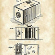 Roll Film Camera Patent 1888 - Vintage Poster