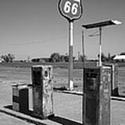 Route 66 Gas Pumps Poster