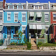 Row Houses In Washington D.c. Poster