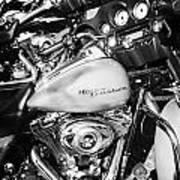 Row Of Harley Davidson Street Glide Motorbikes Outside Motorcycle Dealership Orlando Florida Usa Poster