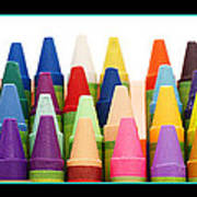 Rows Of Crayons Poster