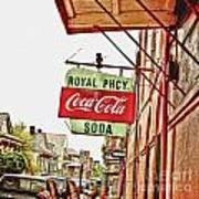 Royal Pharmacy Soda Sign Poster