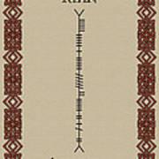 Ryan Written In Ogham Poster
