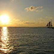 Sailing Into The Sunset - Key West Poster