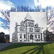 Sayles Hall At Brown University In Providence Rhode Island Poster