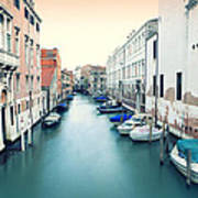 Secluded Canal In Venice Poster