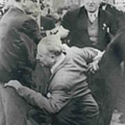Sir Oswald Mosley Dies In Paris Poster