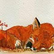 Sleeping Red Fox Poster