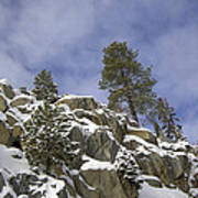 Snow Covered Cliffs And Trees II Poster