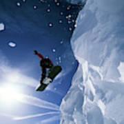 Snowboarding In Lake Tahoe Poster