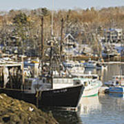 South Bristol And Fishing Boats On The Coast Of Maine Poster