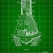 Space Capsule Patent 1959 - Green Poster