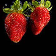 Splash Strawberry Poster