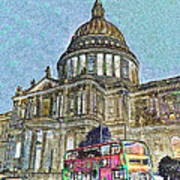St Paul's Cathedral London Art Poster