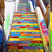 Stairway To Heaven Valparaiso  Chile Poster