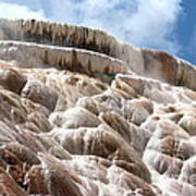 Steamy Mammoth Hot Springs Poster