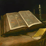 Still Life With Bible Poster