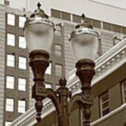 Streetlights - Lansing Michigan Poster