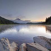 Sunrise At Trillium Lake Poster