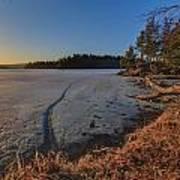 Sunrise On Millsite Lake Poster