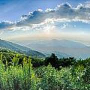 Sunrise Over Blue Ridge Mountains Scenic Overlook  Poster