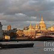 Sunset Over St Pauls Cathedral London Poster