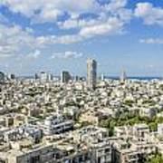 Tel Aviv Israel Elevated View Poster
