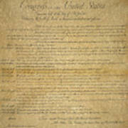 The Bill Of Rights, 1789 Poster