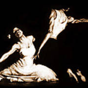 The Dancers-sepia Poster