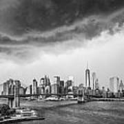 The Storm Over Manhattan Downtown Poster