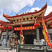 Thien Hau Temple A Taoist Temple In Chinatown Of Los Angeles. Poster