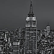 Top Of The Rock Bw Poster